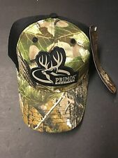 PRIMOS HUNTING WITH DEERE HEAD Camouflage Ball Cap Embroidered Black/Camo New