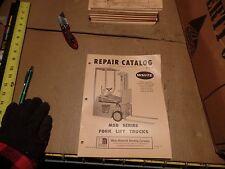 WHITE LIFT TRUCK REPAIR CATALOG MSB SERIES FORK LIFT TRUCKS, R-2145 R2145, N.O.S