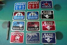 Hawaii Hang Loose 3x4in. Honolulu Waikiki 80's Tiki Hula Aloha STICKER Lot of 12