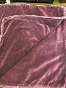 """NEW POTTERY BARN Fringe Washed Soft Velvet Pillow Cover Sham Madeira Red 22"""""""