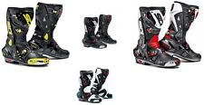 SIDI Vortice Fluo/Black/White/Red SPORTS Motorcycle Boots Ideal for Track