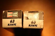 2x RJ14YC 63 Champion spark plugs lot of 2 *SHIPPING DISCOUNTS ON 4 6 8 12 ETC*
