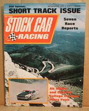 STOCK CAR RACING vintage old magazine NOVEMBER 1971 SHORT TRACK MUSTANG PIKES