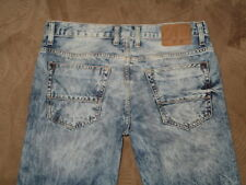 Aeropostale Size 32/30 Bowery Slim Straight Destroyed Light Blue Denim Mens Jean