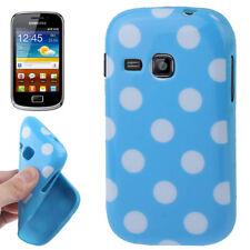 TPU Case für Samsung S6500 Galaxy Mini 2 in blau mit weißen Punkten Hülle