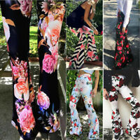 Fashion Women Leggings High Waist Stretchy Bell-Bottoms Pants Flared Trousers US