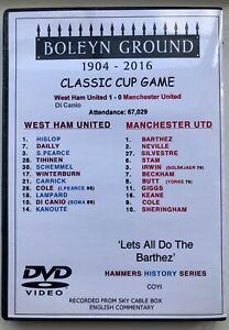 WEST HAM UNITED vs MAN UTD 1:0 2001 DVD CLASSIC FA CUP- DI CANIO - BARTHEZ WAVE!