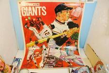Vintage 1971 San Francisco Giants Baseball Wall Poster