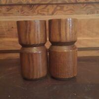 Vintage Mid Century Modern Wood Salt Shaker & Pepper Mill Lax Copco Design Italy