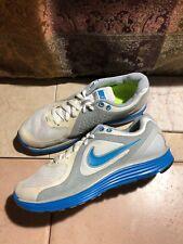 Nike 386370-104 Lunarswift+ White/Blue Running SNEAKERS Size EUC 8.5