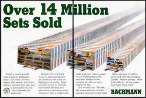 BACHMANN TRAINS__Orig. 1991 Trade print AD / promo__Golden Spike__Silver Express
