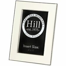 WHITE CERAMIC 4X6 PHOTO FRAME  - THINK OF A HAPPY DAY WITH THIS WOODEN FRAME