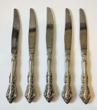 "Oneida Set of 5 Michelangelo Modern Hollow Knives 9"" Stainless Steel Flatware"