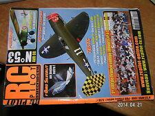 RC Pilot n°53 plan encarté Morane Type L / I-Bird Yak 54 Gee Bee Y P47 razorback