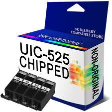 4 Black Chipped Ink For IP4850 MG5150 MG5250 MG6150 MG8150 PGI-525 BK