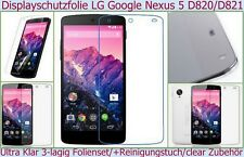 2 x klar Display Schutz Folie LG Google Nexus 5 Crystal Screen Protector Clear