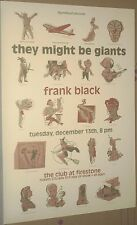 They Might Be Giants & Frank Black RARE 1994 CONCERT GIG POSTER The Pixies MINT