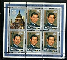 Niue  1981  Scott # B52,B53 and B54  MNH Souvenir Sheet