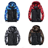 Camouflage Hooded Coat Men Outwear Waterproof Sport Army Windbreaker Rain Jacket