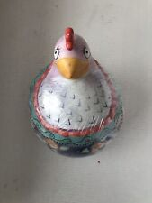 Rare Fitz & Floyd Essentials Gypsy Chicks Hen Chicken Cookie Jar Canister