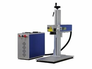 30w Fiber laser engraving machine with rotary arm