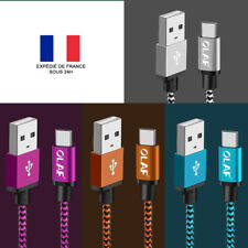 CABLE CHARGEUR USB TYPE C POUR SAMSUNG / HUAWEI / HONOR / HTC / LG / SONY