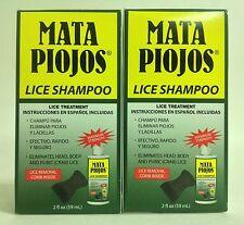 2 SHAMPOOS MATA PIOJOS 2 oz C/U - EFFECTIVE LICE TREATMENT SHAMPOOS