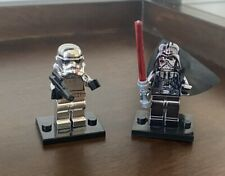 Star Wars Chrome Brick Model MiniFigure Darth Vader Stormtrooper Lego Compatible