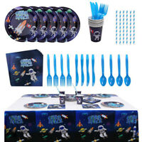 Outer Space Theme Disposable Paper Tableware Children's Birthday Party Supplies