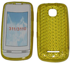 Per Nokia Asha 311 / 3110 modello Soft Gel Custodia Cover Protettore Custodia Giallo UK