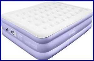 MIRAKEY Comfortable Air Mattress W Built In Pump Fast Inflation Bed Blow Up Feat
