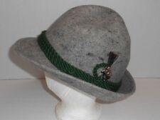 Gray German 100% Wool Hat Men's Size 6 Dold Exquisit Black Forest Clock Factory