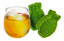 Large 3D Grenade Shape Ice Cube Mold Maker Silicone Party Bar Military Gift NEW