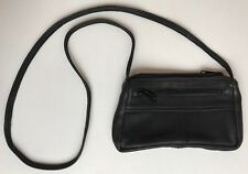 "Raven Ohio Deerskin black crossbody small purse Super Soft EUC 5 x 9"""