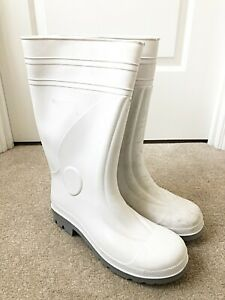 RETURNS The Safety Works White Safety Wellington Steel Toe Wellies