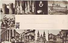 Spain Madrid - Attractions old unused multiple vignette PNT postcard