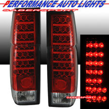 Set of Pair Red Lens LED Taillights for 1986-1997 Nissan Hardbody Pickup