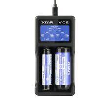 XTAR VC2 USB Li-Ion LCD 18350 18650 Lithium Smart Battery Charger