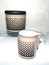 Hornsea Pottery Coral Pattern Milk Jug and Sugar Bowl with Lid made in Ironstone