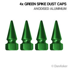 4x Green Spike Car Bike Motorcycle BMX Wheel Tyre Valve Aluminium Dust Caps