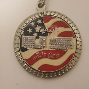 WWF John Cena Word Life US Chain Pennant Spinner Necklace WWE 2004