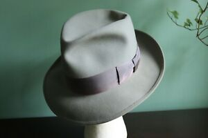 GORGEOUS Vintage 50s STETSON SOMETHING OR OTHER, Gray, 7 1/8th