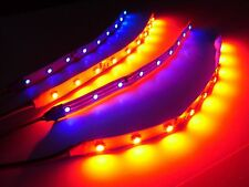 "6"" RC Blue and Red Underbody LED Strip Lights Superbright FPV Quadcopter 4pc"
