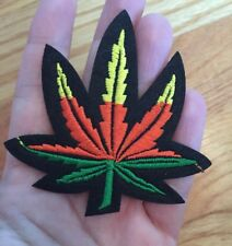 Jamaican Marijuana Embroidered Patch Iron On Weed Pot Leaf Medium 3""