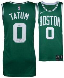 JAYSON TATUM Autographed Boston Celtics Nike Green Jersey FANATICS