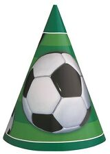 Football | Soccer | Goal | Championship | Green Party Hats | Favours 1-48pk
