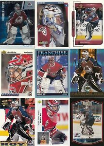 PATRICK ROY a lot of 9 DIFFERENTS CARDS near mint   LOT 65