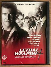 MEL GIBSON JET LI Lethal Weapon 4~1998 Acción/policías Película Secuela GB DVD