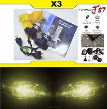 LED Kit X3 50W 9003 HB2 H4 3000K Yellow HEAD LIGHT HI LO BEAM REPLACE LAMP