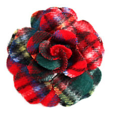 Fabric Flowers Costume Brooches & Pins